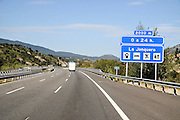 Spanish Highway Photographed in Catalonia, Spain