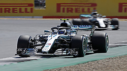 Mercedes' Valtteri Bottas during the 2018 British Grand Prix at Silverstone Circuit, Towcester.