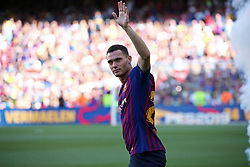 August 15, 2018 - Barcelona, Spain - Thomas Vermaelen during the presentation of the team 2018-19 before the match between FC Barcelona and C.A. Boca Juniors, corresponding to the Joan Gamper trophy, played at the Camp Nou, on 15th August, 2018, in Barcelona, Spain. (Credit Image: © Joan Valls/NurPhoto via ZUMA Press)