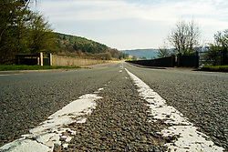 A57one of the the main roads linking Manchester and Sheffield. Close to Derwent Dams  in the Peak District National Park deserted over the Easter weekend as people heed the government advice to Stay home and only make necessary Journeys during the UK's Covid-19 Emergency Measures<br /> <br /> 11 April 2020<br /> <br /> www.pauldaviddrabble.co.uk<br /> All Images Copyright Paul David Drabble - <br /> All rights Reserved - <br /> Moral Rights Asserted -