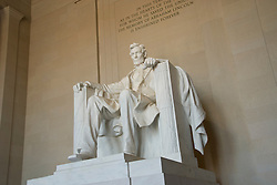 Washington DC; USA: The Lincoln Memorial, Statue of President Abraham Lincoln, on the National Mall.Photo copyright Lee Foster Photo # 4-washdc76128