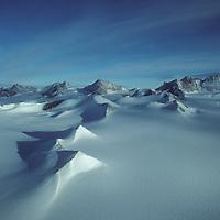The northern Ellsworth Mountains rise above Antarctica's vast polar plateau.