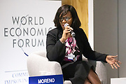 Elisabeth Moreno, Vice-President and General Manager, Africa, HP, South Africa speaking during the session Promoting Female Leadership at the World Forum World Economic Forum on Africa 2019. Copyright by World Economic Forum / Greg Beadle