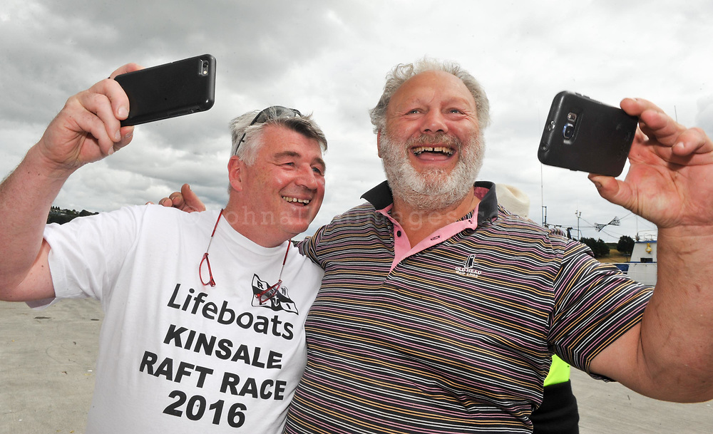REPRO FREE<br /> Pictured at the RNLI Kinsale Raft Race on the Saturday of the Kinsale Regatta are Tv Celebrity Chef Martin Shanahan and YouTube Celebrity Rocky Rowe.<br /> Picture. John Allen