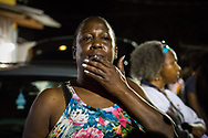 Veda Washington-Abusaleh, aunt of Alton Sterling, at a vigil for Sterling on May 2, 2017 in Baton Rouge, Louisiana held in front of  the Trilple S Food Mart U.S. the day news got out that the Justice Department  will not prosecute thee police officer who shot and killed Sterling last summer.