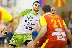 Borut Mackovsek of Slovenia during friendly handball match between National Teams of Slovenia and F.Y.R. of Macedonia before EHF EURO 2016 in Poland on January 4, 2015 in Sports hall Krsko, Krsko, Slovenia. Photo by Urban Urbanc / Sportida