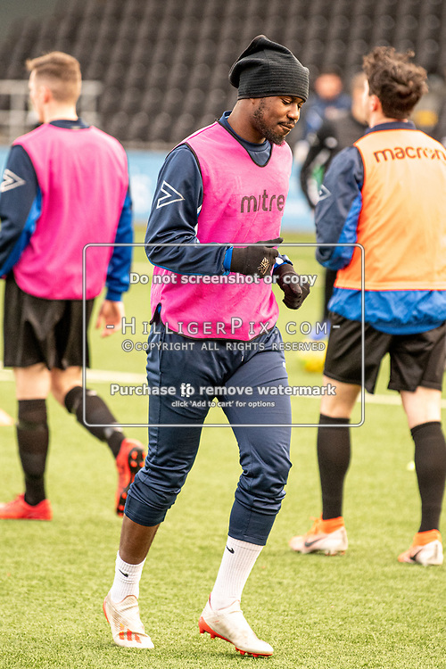 BROMLEY, UK - DECEMBER 07: Ben Mundelle, of Cray Wanderers FC, before the BetVictor Isthmian Premier League match between Cray Wanderers and Potters Bar Town at Hayes Lane on December 7, 2019 in Bromley, UK. <br /> (Photo: Jon Hilliger)