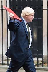 Downing Street, London, December 13th 2016. Foreign and Commonwealth Secretary Boris Johnson arrives at the weekly meeting of the cabinet at Downing Street, London.