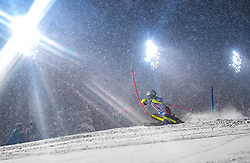 08.01.2019, Hermann Maier Weltcupstrecke, Flachau, AUT, FIS Weltcup Ski Alpin, Slalom, Damen, 1. Lauf, im Bild Aline Danioth (SUI) // Aline Danioth of Switzerland in action during her 1st run of ladie's Slalom of FIS ski alpine world cup at the Hermann Maier Weltcupstrecke in Flachau, Austria on 2019/01/08. EXPA Pictures © 2019, PhotoCredit: EXPA/ Johann Groder