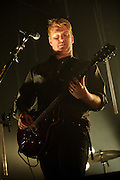 Photos of the band Queens of the Stone Age performing at the Pageant in St. Louis on April 5, 2010.