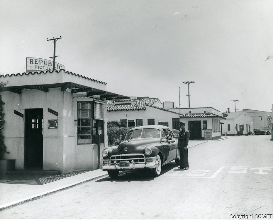 1950 Republic Studios entrance on Ventura Blvd. in Studio City