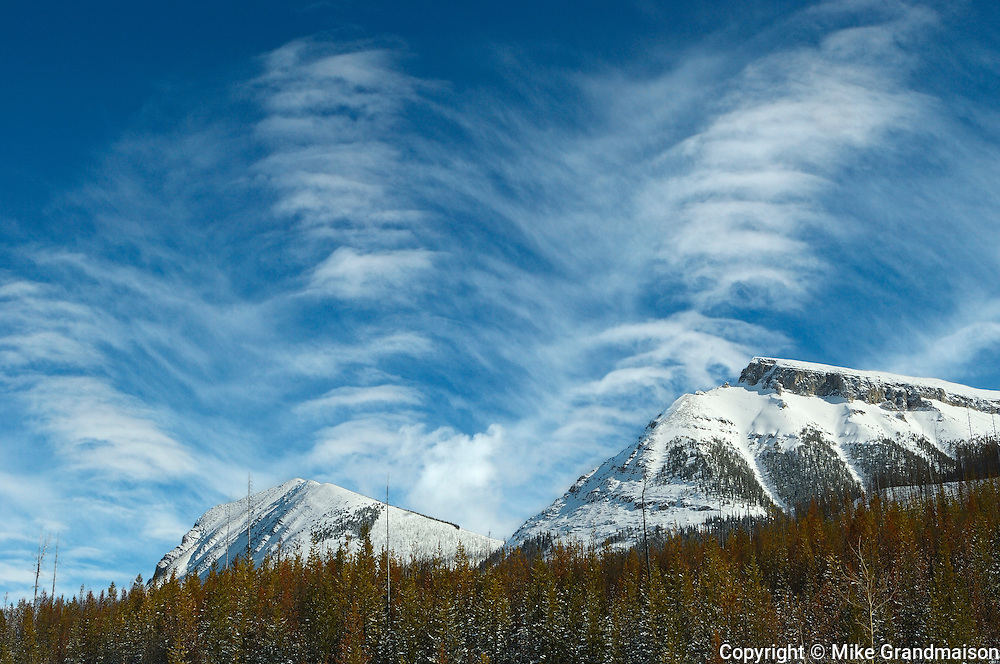 CLouds and Rocky Mountains at the Continental Divide<br /> Banff National Park<br /> Alberta<br /> Canada