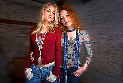 Galen Ayers and Kirsty Newton of the pop duet Siskin. Photographed in Brussels, Belgium. (Photo © Jock Fistick)