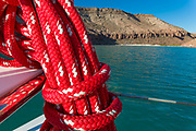 Orion sailboat, Ensenada Grande, Isla La Parfida, Sea of Cortez, Baja Mexico,