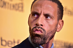 Rio Ferdinand during the press conference at York Hall, London.