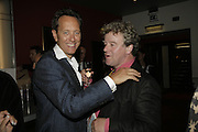 RICHARD E.GRANT AND JULIAN BANNERMAN, The John Betjeman Variety Show, sponsored by Shell, in aid of Sane. In the Presnece of the Prince of Wales and the Duchess of Cornwall. Prince of Wales theatre. London. 10 September 2006. ONE TIME USE ONLY - DO NOT ARCHIVE  © Copyright Photograph by Dafydd Jones 66 Stockwell Park Rd. London SW9 0DA Tel 020 7733 0108 www.dafjones.com