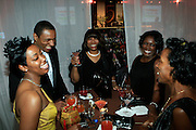 """l to r; Felcia Fletcher, Alize Diamond Necklace Awardee, Bobby, Velma Clarke, and Guests at The Ludacris Foundation 5th Annual Benefit Dinner & Casino Night sponsored by Alize, held at The Foundry at Puritan Mill in Atlanta, Ga on May 15, 2008.. Chris """"Ludacris"""" Bridges, William Engram and Chaka Zulu were the inspiration for the development of The Ludacris Foundation (TLF). The foundation is based on the principles Ludacris learned at an early age: self-esteem, spirituality, communication, education, leadership, goal setting, physical activity and community service. Officially established in December of 2001, The Ludacris Foundation was created to make a difference in the lives of youth. These men have illustrated their deep-rooted tradition of community service, which has broadened with their celebrity status. The Ludacris Foundation is committed to helping youth help themselves."""