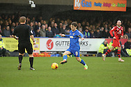 AFC Wimbledon midfielder Jake Reeves (8) controlling ball during the EFL Sky Bet League 1 match between AFC Wimbledon and Walsall at the Cherry Red Records Stadium, Kingston, England on 25 February 2017. Photo by Matthew Redman.