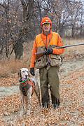 Bob Ciulla hunts pheasants in Montana with his English Setter, Jasper