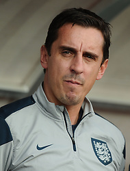 England First Team Coach, Gary Neville  - Mandatory byline: Joe Meredith/JMP - 07966386802 - 05/09/2015 - FOOTBALL- INTERNATIONAL - San Marino Stadium - Serravalle - San Marino v England - UEFA EURO Qualifers Group Stage