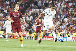September 19, 2018 - Madrid, Spain - Raphael Varane (defender; Real Madrid) in action during the UEFA Champions League match between Real Madrid and AS Roma at Santiago Bernabeu on September 19, 2018 in Madrid, Spain (Credit Image: © Jack Abuin/ZUMA Wire)