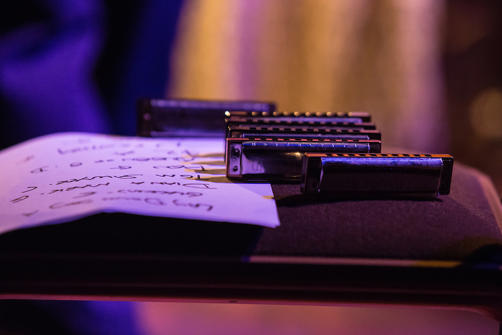"""""""Skay"""" Dave Pollack's harmonicas arranged by song keys."""