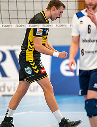 Nico Manenschijn #6 of Dynamo celebrate in the second round between Sliedrecht Sport and Draisma Dynamo on February 29, 2020 in sports hall de Basis, Sliedrecht
