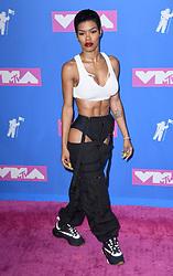 Teyana Taylor arriving at the MTV Video Music Awards 2018, Radio City, New York. Photo credit should read: Doug Peters/EMPICS