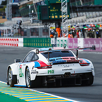 #93, Porsche GT Team, Porsche 911 RSR, LMGTE Pro, driven by: Patrick Pilet, Nick Tandy, Earl Bamber on 12/06/2019 at the Le Mans 24H 2019