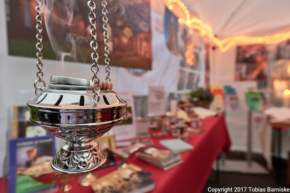Frankincense at the evening of the encounter at Gendarmenmarkt in Berlin, Germany.