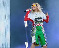 Rita Ora at the Isle of Wight Festival 22nd june 2018 photo by Dawn Fletcher-Park