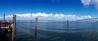 View of Packery Channel back towards Corpus Christi, Texas Gulf Coast.