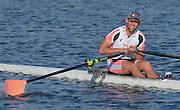 Reading. United Kingdom.  Men's single sculls, A Final.  Jack BEAUMONT,   2014 Senior GB Rowing Trails, Redgrave and Pinsent Rowing Lake. Caversham.<br /> <br /> 17:41:50  Saturday  19/04/2014 <br /> <br />  [Mandatory Credit: Peter Spurrier/Intersport<br /> Images]