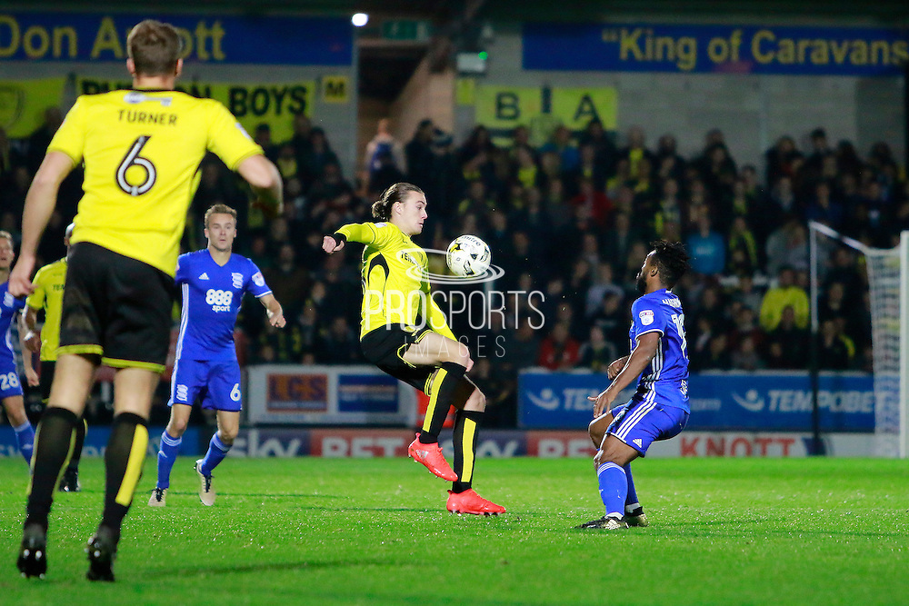 Burton's Jackson Irvine (36) during the EFL Sky Bet Championship match between Burton Albion and Birmingham City at the Pirelli Stadium, Burton upon Trent, England on 21 October 2016. Photo by Richard Holmes.