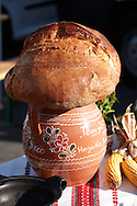 Traditional bread loaf at the Hungarian Regional Gastronomic Festival 2009 - Gyor ( Gy?r ) Hungary .<br /> <br /> Visit our HUNGARY HISTORIC PLACES PHOTO COLLECTIONS for more photos to download or buy as wall art prints https://funkystock.photoshelter.com/gallery-collection/Pictures-Images-of-Hungary-Photos-of-Hungarian-Historic-Landmark-Sites/C0000Te8AnPgxjRg
