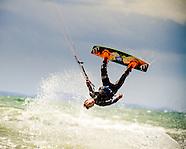 Kitesurfing at Compton Bay