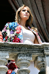 Italy, Catania - Catania, Taormina, Italy - First lady MELANIA TRUMP on the balcony of Chierici Palace, part of a visit of the G7 summit. (Credit Image: © Nicolosi/Fotogramma/Ropi via ZUMA Press)