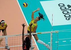 27-08-2010 VOLLEYBAL: WGP FINAL BRAZIL - USA: BEILUN NINGBO <br /> USA beats Brazil in five sets / Jaqueline Carvalho<br /> ©2010-WWW.FOTOHOOGENDOORN.NL