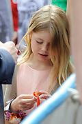 Koningsdag 2014 in Amstelveen, het vieren van de verjaardag van de koning. / Kingsday 2014 in Amstelveen, celebrating the birthday of the King. <br /> <br /> <br /> Op de foto / On the photo: Prinses Amalia