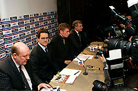 Photo: Tom Dulat/Sportsbeat Images.<br /> <br /> England Press Conference. 17/12/2007.<br /> <br /> Fabio Capello (second left) answers questions during press conference.