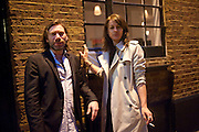 MAT COLLISHAW; REBECCA WARREN, Counter Editions 10th anniversary party. Rivington Grill. Shoreditch. London. 5 May 2010 *** Local Caption *** -DO NOT ARCHIVE-© Copyright Photograph by Dafydd Jones. 248 Clapham Rd. London SW9 0PZ. Tel 0207 820 0771. www.dafjones.com.<br /> MAT COLLISHAW; REBECCA WARREN, Counter Editions 10th anniversary party. Rivington Grill. Shoreditch. London. 5 May 2010