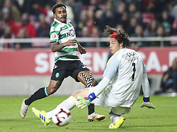 February 7, 2019 - Na - Lisbon, 06/02/2019 - SL Benfica received this evening the Sporting CP in the Stadium of Light, in game the account for the first leg of the Portuguese Cup 2018/19 semi final. Wendel and Svilar  (Credit Image: © Atlantico Press via ZUMA Wire)