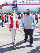 121420 Queen Letizia arrives Honduras