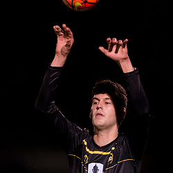 BRISBANE, AUSTRALIA - AUGUST 26: Corey Lucas of Moreton Bay throws in during the NPL Queensland Senior Men's Semi Final match between Brisbane Strikers and Moreton Bay Jets at Perry Park on August 26, 2017 in Brisbane, Australia. (Photo by Patrick Kearney)