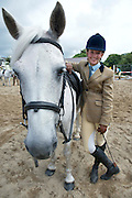 16/08/2013.Rebecca Andrews from Dublin with Burburis at the 90th Connemara Pony show in Clifden Co. Galway. Photo:Andrew Downes