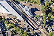 Nederland, Utrecht, Gemeente Utrecht, 30-09-2015; Spoorwegmuseum in Maliebaanstation (Station Maliebaan).<br /> Railway station.<br /> QQQ<br /> luchtfoto (toeslag op standard tarieven);<br /> aerial photo (additional fee required);<br /> copyright foto/photo Siebe Swart