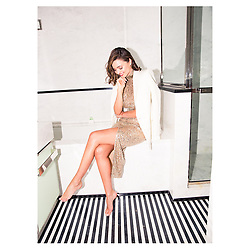 """Miranda Kerr releases a photo on Instagram with the following caption: """"Had fun sharing some of my travel essentials with @coveteur and talking all things @koraorganics \ud83d\ude18 (full article in bio) \ud83d\udcf8 by @alec_kugler"""". Photo Credit: Instagram *** No USA Distribution *** For Editorial Use Only *** Not to be Published in Books or Photo Books ***  Please note: Fees charged by the agency are for the agency's services only, and do not, nor are they intended to, convey to the user any ownership of Copyright or License in the material. The agency does not claim any ownership including but not limited to Copyright or License in the attached material. By publishing this material you expressly agree to indemnify and to hold the agency and its directors, shareholders and employees harmless from any loss, claims, damages, demands, expenses (including legal fees), or any causes of action or allegation against the agency arising out of or connected in any way with publication of the material."""