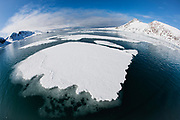 Ice pattern on the water ,Svalbard, Norway