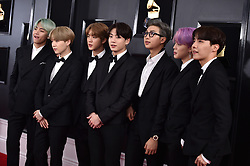 BTS attends the 61st Annual GRAMMY Awards at Staples Center on February 10, 2019 in Los Angeles, CA, USA. Photo by Lionel Hahn/ABACAPRESS.COM