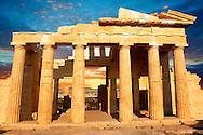 The Propylaea, The monumental gateway to the Acropolis, Athens, Greece